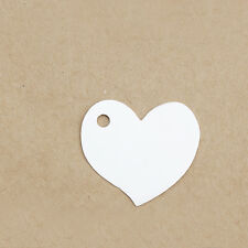 50pcs Love Heart Shape Kraft Paper Hang Tags Label Wedding Party Price Gift Card