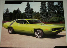 1971 Plymouth GTX 2 dr ht car print (green)