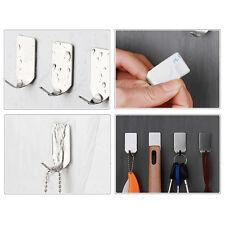 8xSTK Küche Büro Badezimmer Edelstahl Haken 3M Kleben Haken Wand Sticker Haken