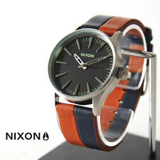 NWT Nixon A377-1854-00 SENTRY 38 LEATHER  38 MM Mens aa110