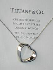 Tiffany & Co Sterling Silver Geometric Heart 16 Inch Necklace