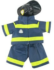 "Fireman Firefighter with hat Outfit clothing to fit 15"" Build a Bear"