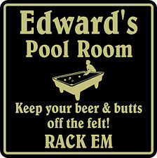 New Personalized Custom Name Pool Room Billiards Bar Beer Pub Gift Sign #1