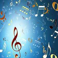 Music notation 10'x10' CP Backdrop Computer-painted Scenic Background ZJZ-300