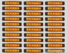 30 x 24V 24 VOLT 6 LED AMBER SIDE MARKER LIGHT POSITION TRUCK TRAILER LORRY
