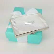 Tiffany & Co Sterling Silver Compact Makeup Case w/ Mirror & Secret Compartment