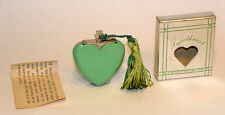 unused 1947 art deco green bakelite figural heart sweetheart perfume lighter
