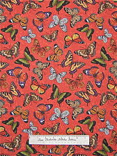 Timeless Treasures - Butterfly Fabric Monarch Orange Yellow Green Black Rust /Yd