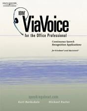 IBM ViaVoice for the Office Professional by Karl Barksdale (2001, Paperback)