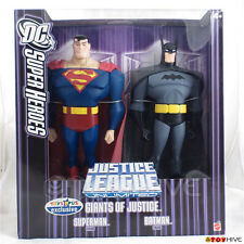 Justice League Giants Superman Batman 10 inch action figure exclusive purple box