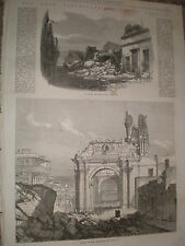 Views of the ruins of Arequipa Peru after earthquake 1868 old prints ref W1
