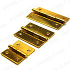 MINI BRASS BUTT HINGE 13/19/25mm SETS OF 2 Small Tiny Metal Door Chest Dollhouse