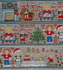 Agnes Delage-Calvet Ctd X-stitch Chart-A Story Told in Stitches-Family Christmas