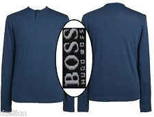 NWT $105 Hugo Boss Black Label Regular Fit Henley Long Sleeve Tee Size XXL