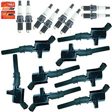 FD503 Ignition coil Autolite spark plug 16pc kit for 1997 to 2003 Ford F150 5.4L