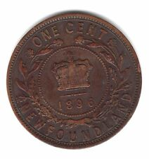 1896 Newfoundland Canada One Large Cent Copper Penny Coin A144
