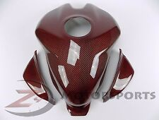 Ducati 899 959 1199 1299 Gas Tank Fuel Cover Fairing Cowling Carbon Fiber Red