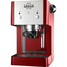 Gaggia Gran Deluxe | Manual Espresso Coffee Machine 15 Bar, Red and Silver