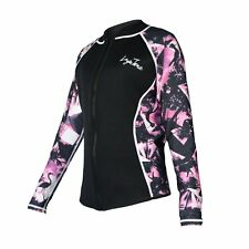 Layatone Wetsuits Jacket 2mm Neoprene Lycra Long Sleeve Top Pink New, Large