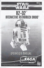 STAR WARS R2-D2 Interactive Robot Hasbro SEARCHABLE OPERATING MANUAL in PDF FILE