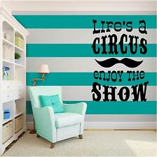 CIRCUS SHOW Vinyl Wall Art quote Home Family Decor Decal Word & Phrase BLACK