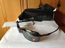NEW Oakley Polarized C-Wire - Polished Black / Black Iridium Polarized OO4046-01