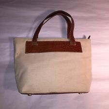 pre-loved authentic CELINE genuine alligator/canvas(?) zip top SHOPPER tote