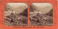 Cauterets Hautes-Pyrénées Stéréo Diorama Stereoview Tissue Vintage