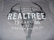 Realtree Xtra Men's SK Deer Hunting Gray Camo T-Shirt Size XL