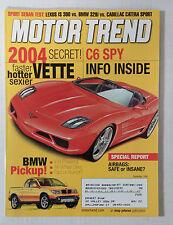 MOTOR TREND CAR MAGAZINE 2000 SEPTEMBER CORVETTE C6 CONCEPT BMW TRUCK