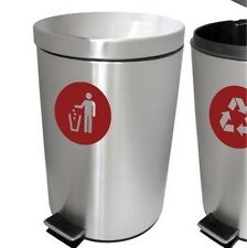 Recycler & general bin vinyl decal sticker recyclage poubelle imperméable transfert