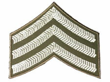 British Army WW2 Sgt Stripes Fancy Dress Embroidered Iron On Shirt Badge Patch