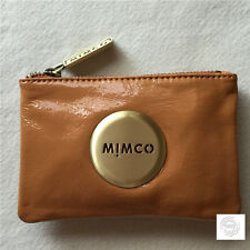 FREE POST MIMCO MIM POUCH SMALL AMBER PATENT LEATHER GUNMETAL RRP69.95