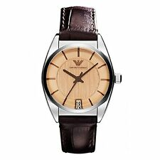 New Emporio Armani AR1629 Watch Women's  Brown Croco Leather
