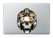 "Skull Flight Helmet Macbook Sticker Decal for Macbook Air/Pro/Retina 13""15""17"""