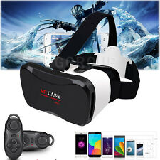For Samsung Galaxy S4/S5/S6/S7 VR Virtual Reality Headset 3D Glasses+Controller