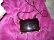Vintage Amber Tortoise Shell Lucite Shoulder Purse Walborg Made in Italy