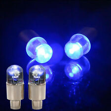 4x Universal LED Wheel Tyre Tire Air Valve Stem Cap Light Lamp Bulb Blue