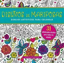 Diseno de Mariposas. Dibujos para Colorear by Inc. Peter Pauper Press and...
