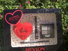 REVLON COLORSTAY16 HOUR EYE SHADOW QUAD 2 REVLON EYELINERS + DUO COMPACT MIRROR