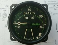 WWII Spitfire Dunlop Triple Brake Pressure gauge