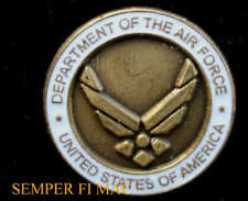 US AIR FORCE HAT LAPEL PIN USAF BADGE LOGO SEAL AFB WING OFFICER ENLISTED GIFT