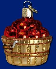"""Apple Basket"" (28060) Old World Christmas Glass Ornament"