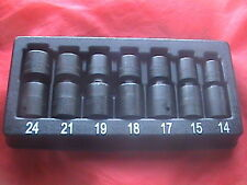 Snap on tools 7 piece metric impact swivel sockets 6 point 1/2 drive 307IPLMY