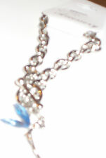 Silvertone bracelet with tinkerbell pendant