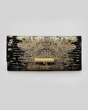 Retail $995 Reed Krakoff Printed Suede Tpin Clutch Bag Blackgold
