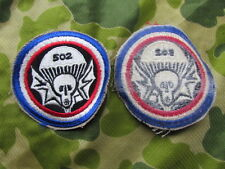 POCKET PATCH 502 e 101 e AIRBORNE  EPOQUE VIETNAM