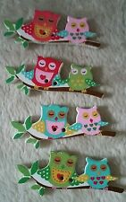 10pcs Two hole owl button embelishments. Mixed colours. 40x17mm. * UK SELLER *