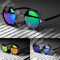 Round Metal Rim Fashion Vintage Sunglasses Celebrity Glasses Retro 50s Women Men