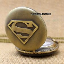 Rare Superman Pocket Watch Vintage Xmas Present Gifts For Him Men Grandad Father